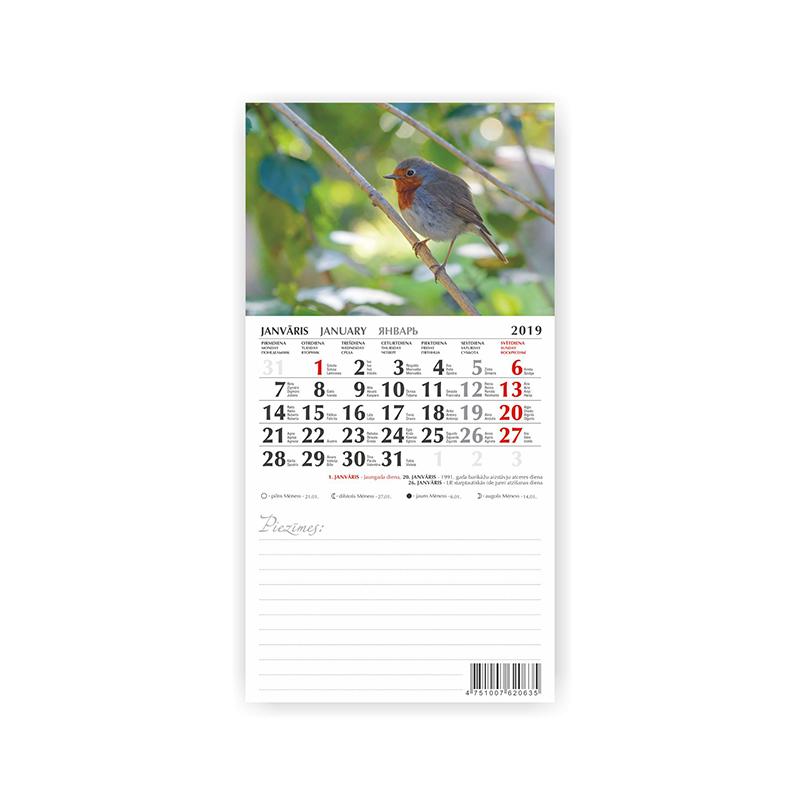 Kalendārs-bloknots ar magnētu 2019.gadam MOBILE SE..