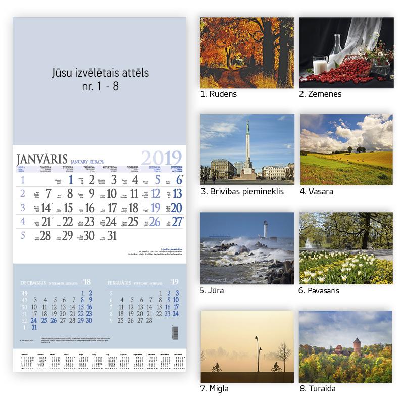 ---Sienas kalendārs 2017.gadam EKO Bonus