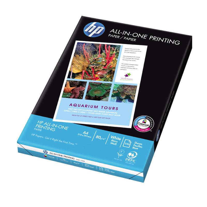Papīrs HP ALL IN ONE A4 formāts, 80 g/m2, 250 loksnes/iepakojumā