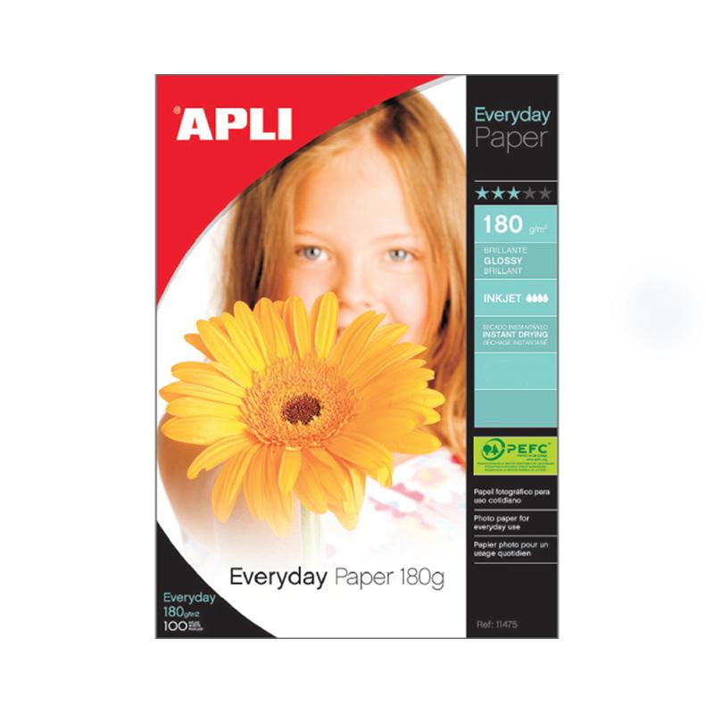 Fotopapīrs APLI Everyday paper InkJet, 10x15cm, glancēts,180g/m2, 20 loksnes