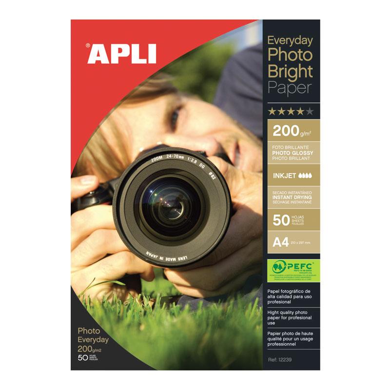 Fotopapīrs APLI Everyday paper InkJet, glancēts,  A4 200g/m2, 50 loksnes