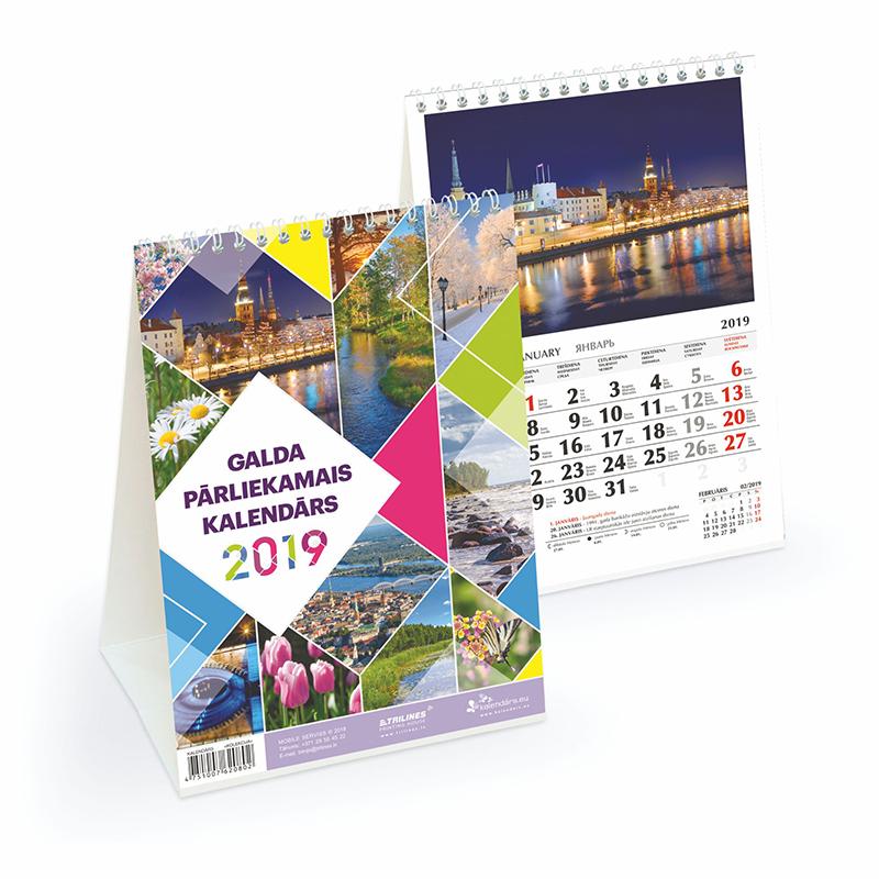 Galda kalendārs Mobile Serviss 2018.gadam KOLEKCIJ..