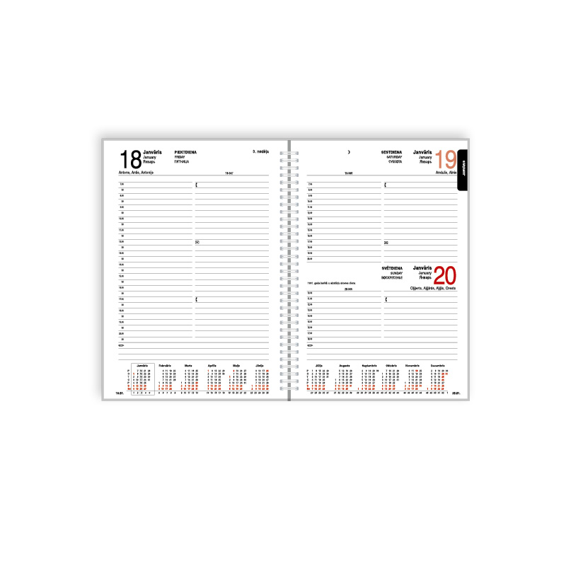 Kalendārā daļa 2019. gadam EKO Bufalo