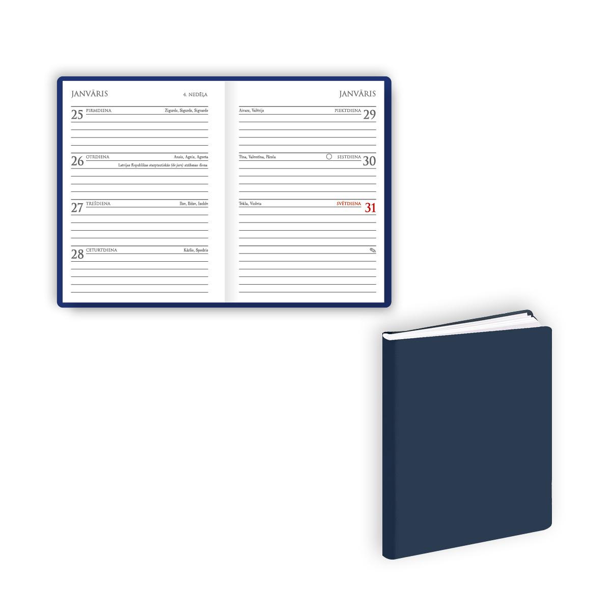 Dienasgrāmata 2019.gadam EKO MINI Basic zila