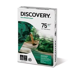 Papīrs DISCOVERY A4 formāts 75g/m2, 500 loksnes/iepakojumā