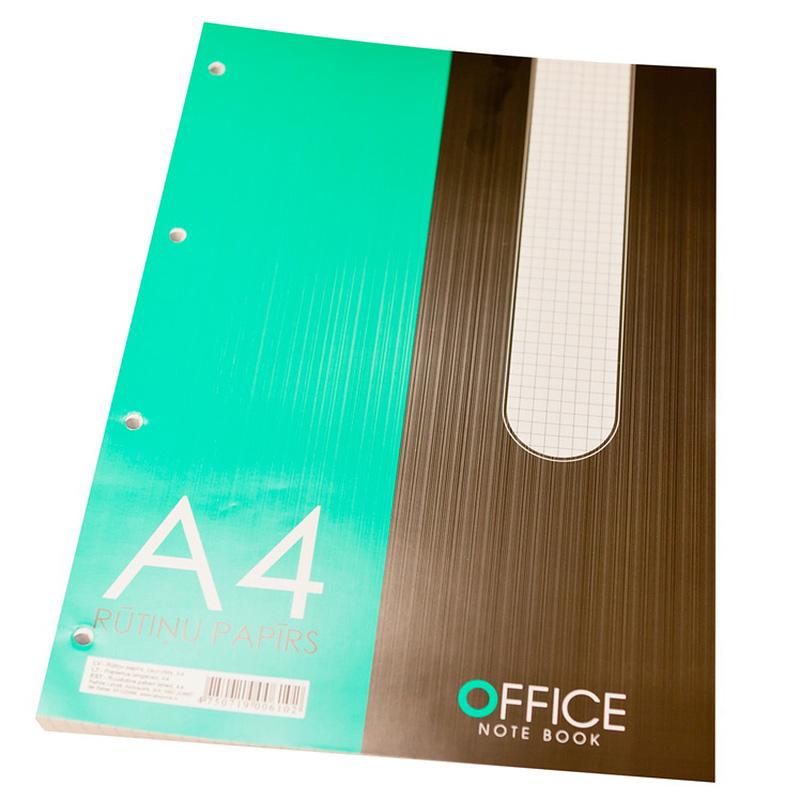 Rakstāmpapīrs ABC JUMS  A4 formāts, 100 loksnes rūtiņu ar caurumiem