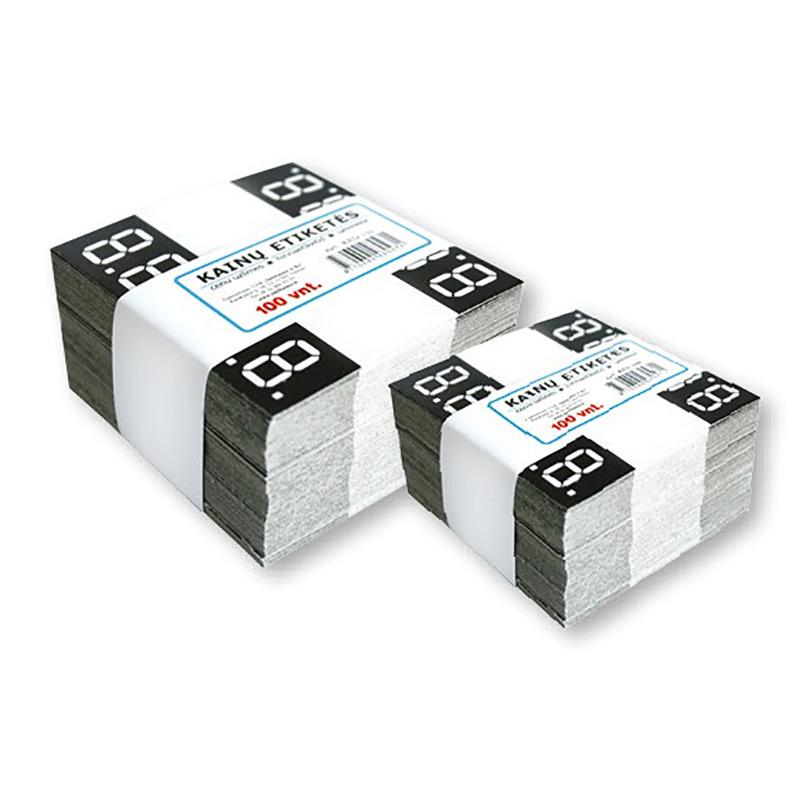 Cenu zīmes SMILTAINIS 70x65 mm, 100 gab/iepakojumā