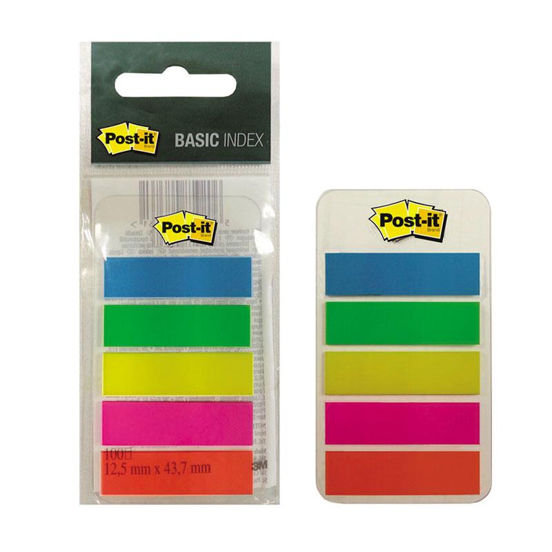Pašlīpošie indeksi POST-IT BASE  683-5EE 5 krāsas 20 lapiņas