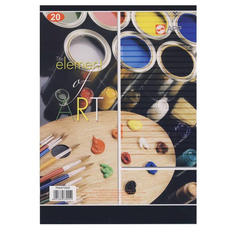 Zīmēšanas albums KOPRA, 90g, A4, 20 loksnes