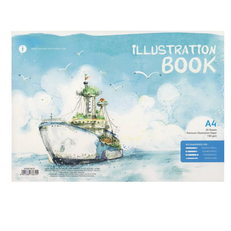 Zīmēšanas albums KOPRA, 150g, A4, 20 loksnes