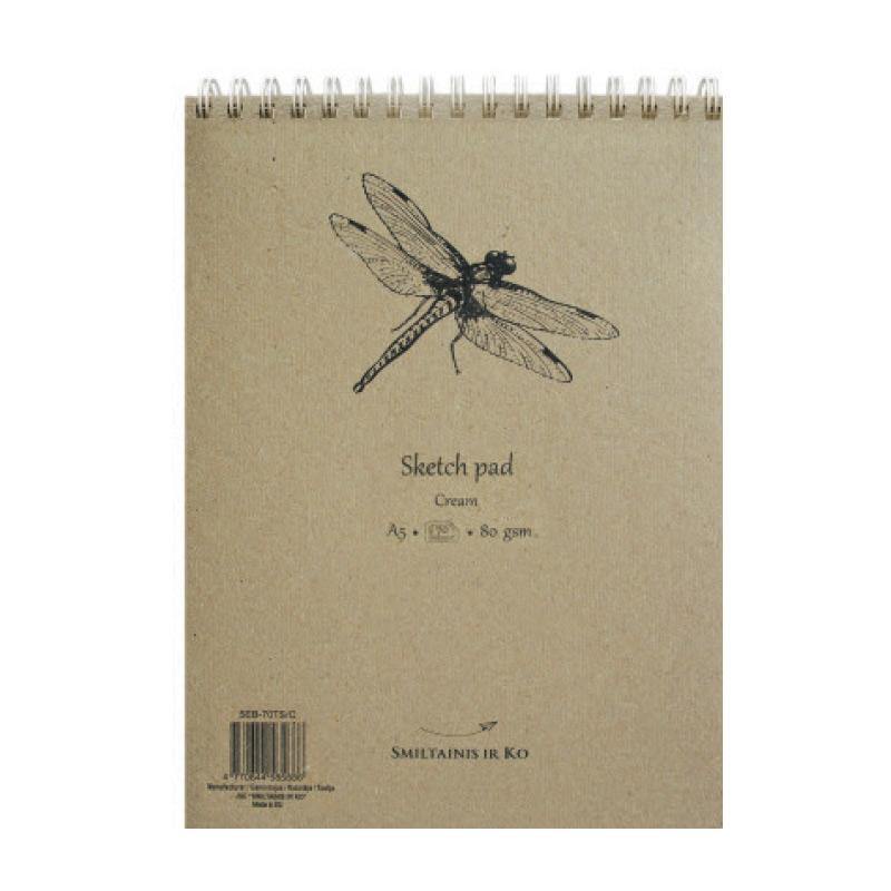 Albums skicēm SMLT, A5, 70 lapas, 80gr, krēmkrāsa