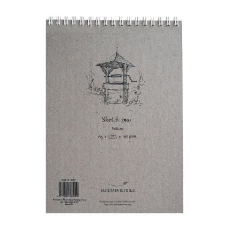 Albums skicēm SMLT, A5, 70 lapas, 100gr, dabīgā krāsā