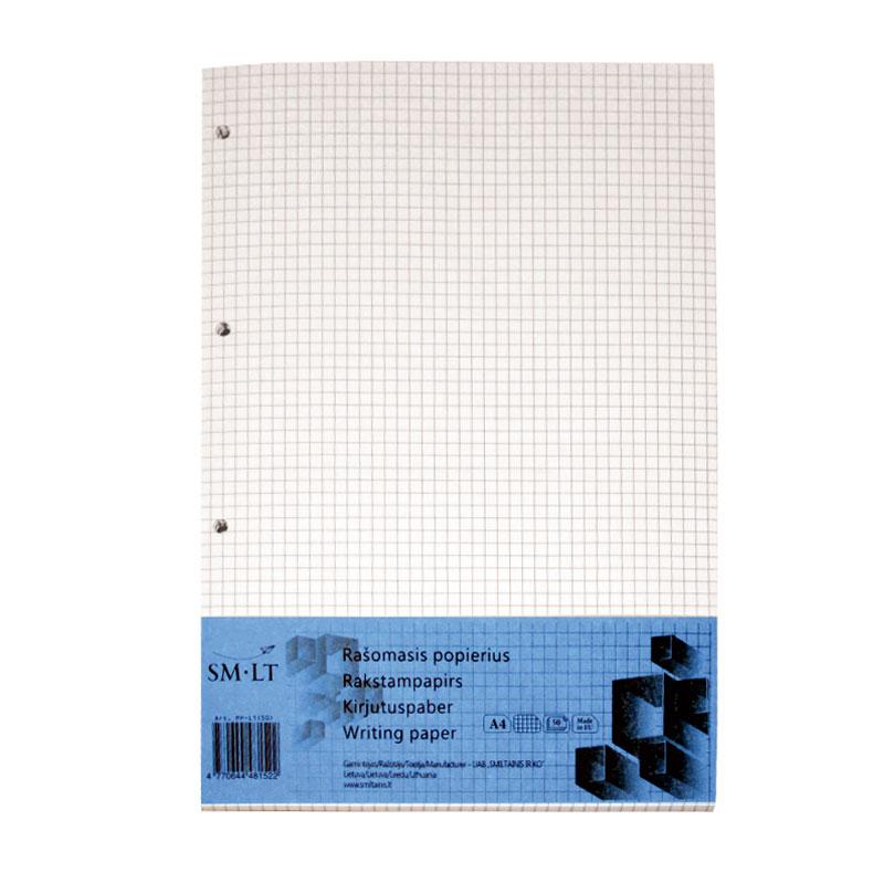 Pierakstu bloknots SMILTAINIS A4 formāts, rūtiņu, 50 lapas