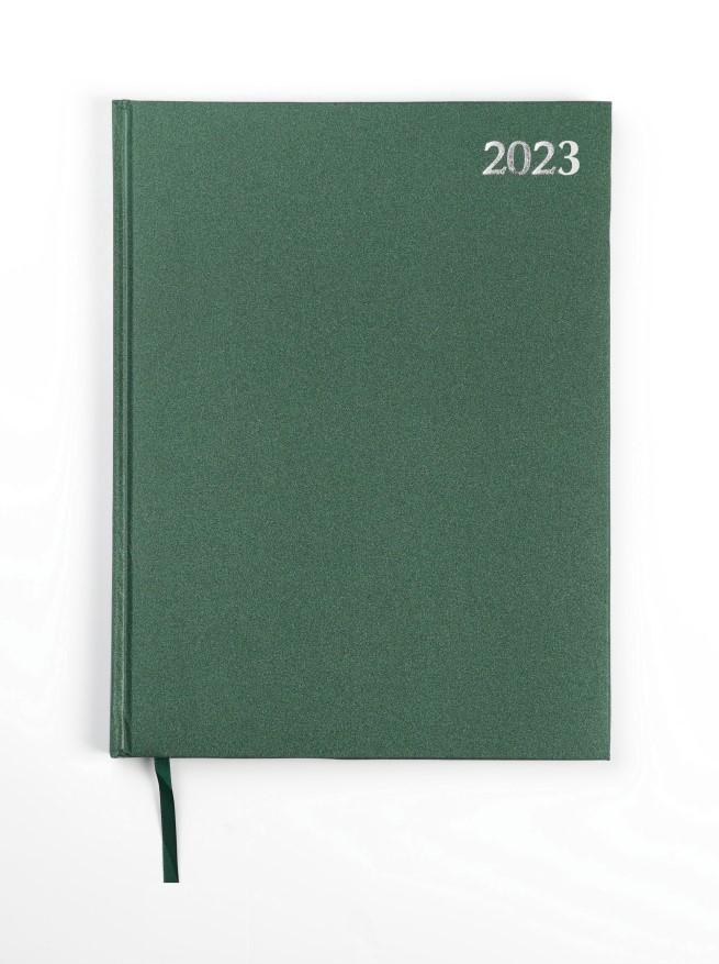 Dienasgrāmata STANDARD 2019, PVC, A4, zaļa krāsa..