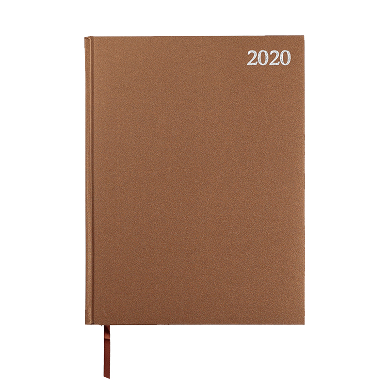 Dienasgrāmata STANDARD 2020, PVC, A4, brūna krāsa ..