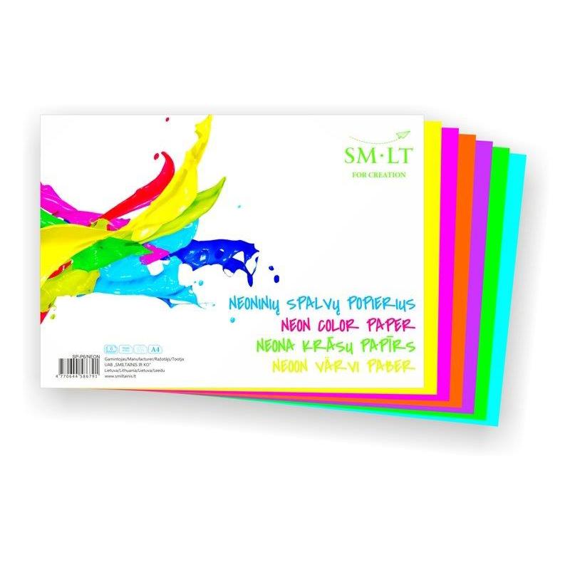 Krāsains papīrs SMILTAINIS neona krāsās