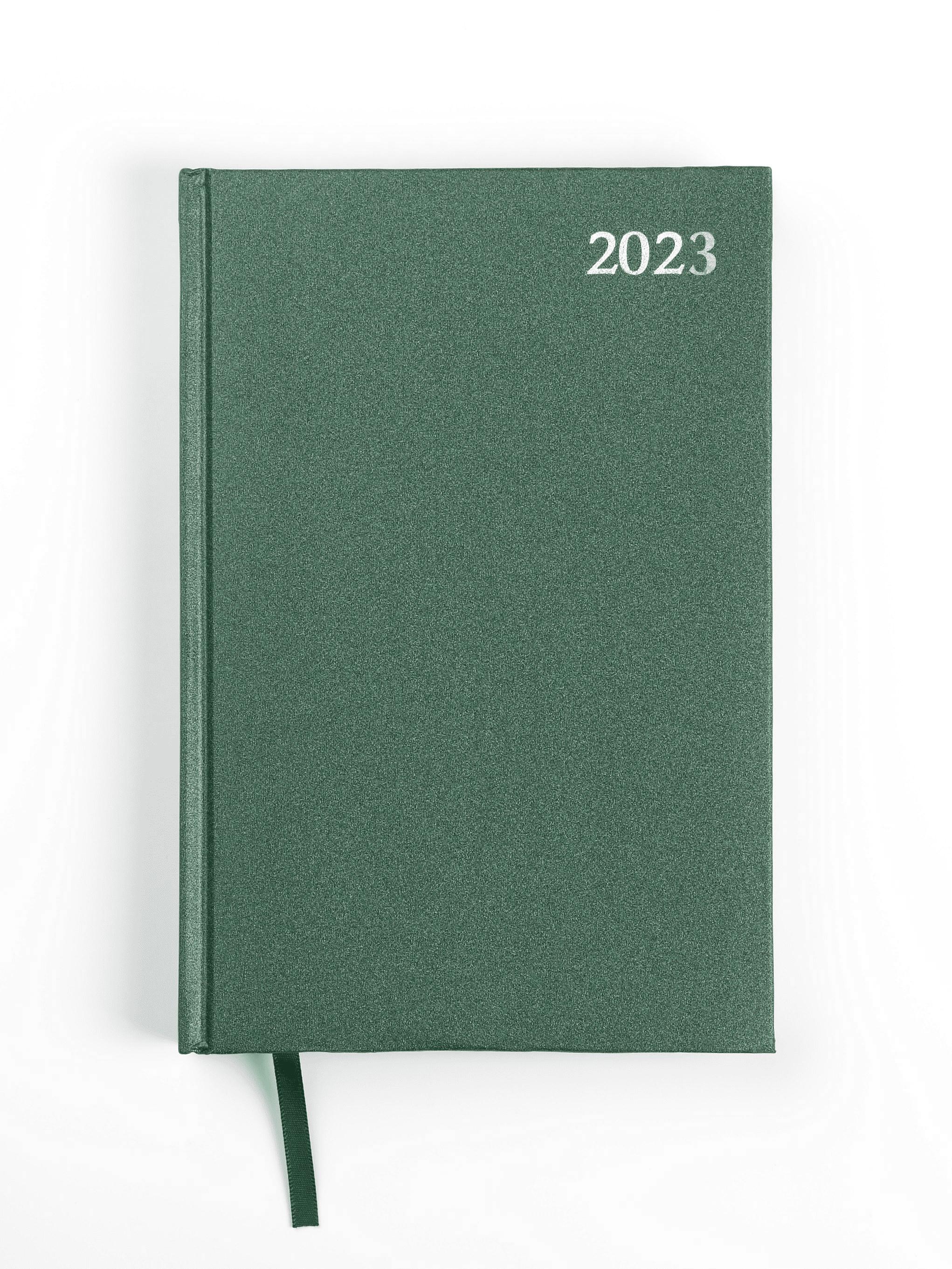 Dienasgrāmata STANDARD 2018, PVC, A5, zaļa krāsa..