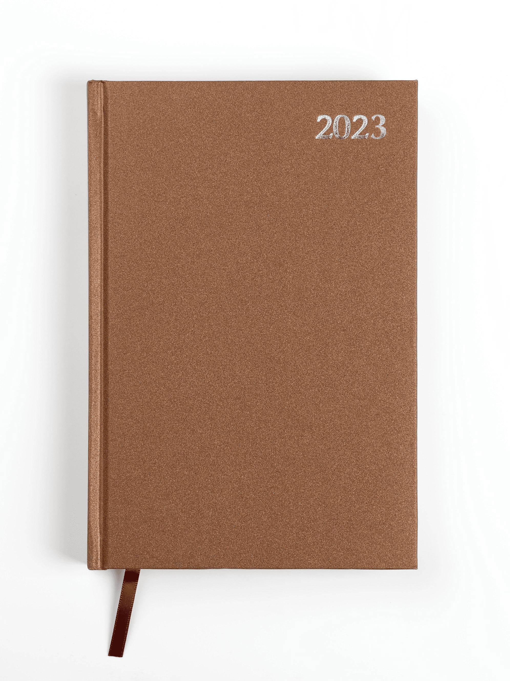 Dienasgrāmata STANDARD 2020, PVC, A5, brūna krāsa ..