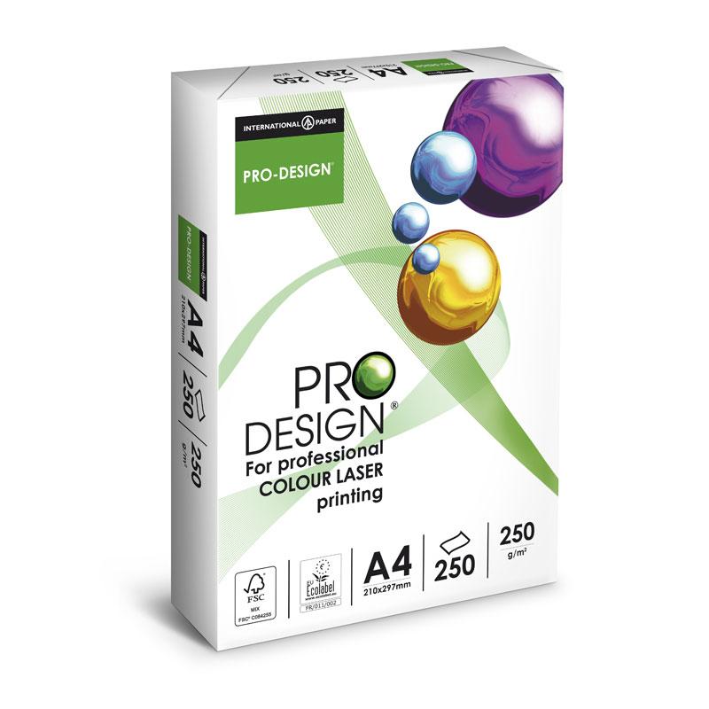 Papīrs PRO DESIGN A4 250 g/m2 250 loksnes/iep.