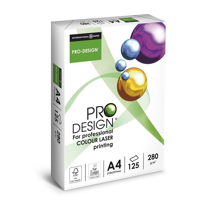 Papīrs PRO DESIGN A4 280 g/m2 125 loksnes/iep.