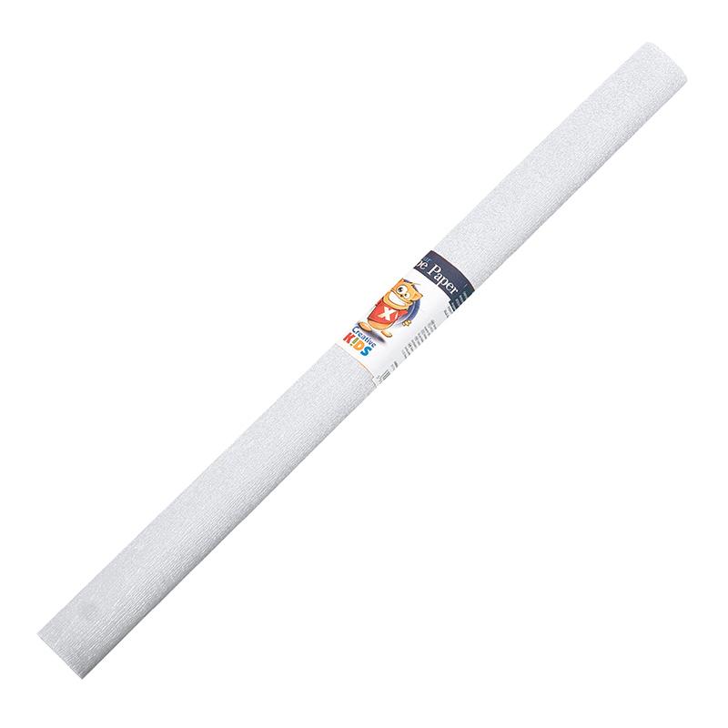 Kreppapīrs ICO ar izmeru 0.5x2m,  balta krāsa