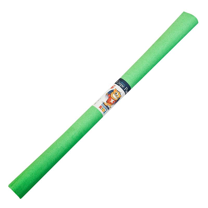Kreppapīrs ICO ar izmeru 0.5x2m, gaiši zaļa krāsa
