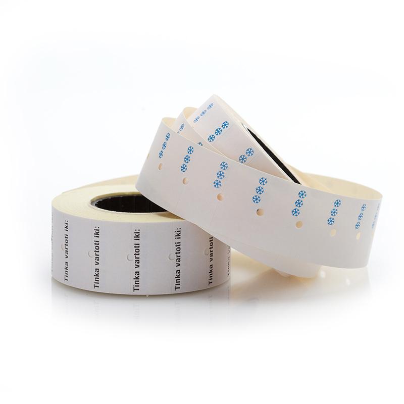 Cenu uzlīmes saldētiem produktiem, kvadrāt.  RP48, 21 x 12 mm, ( 5 gab/iepakojumā)