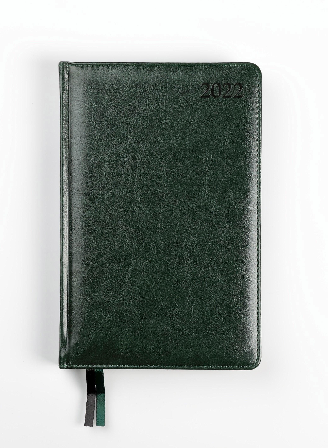 Dienasgrāmata MANAGER PREMIER 2020, PU, A5, zaļa k..