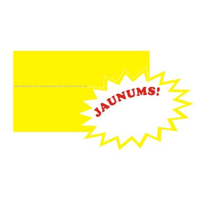 Cenu zīmes CENTA JAUNUMS ar zvaigzni, dzeltena krāsa, 20 gab./iepakojumā