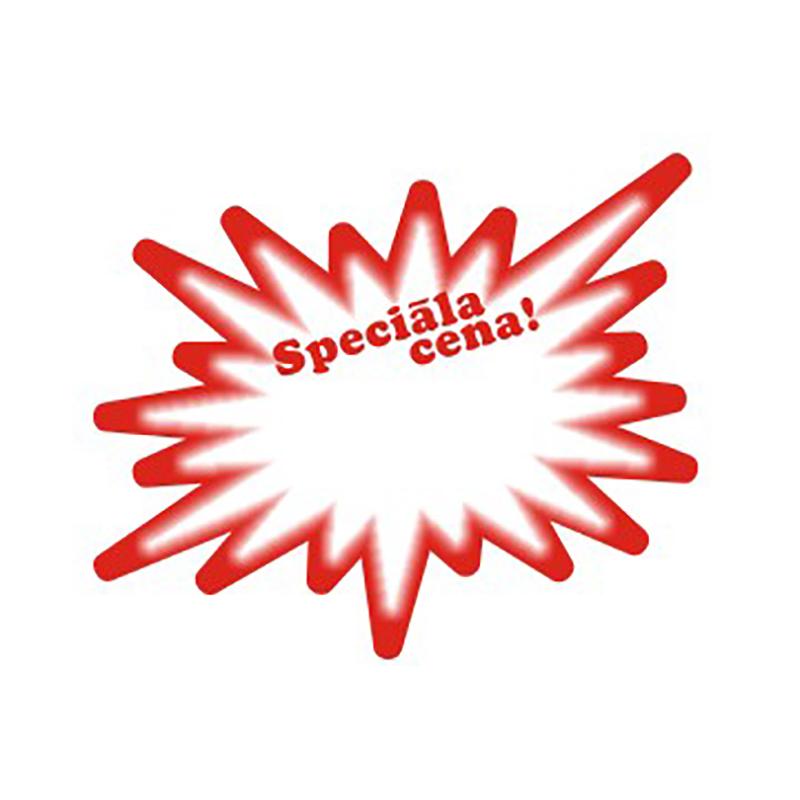 Cenu zīmes CENTA ZVAIGZNE SPECIĀLA CENA sarkana krāsa, 20 gab./iepakojumā