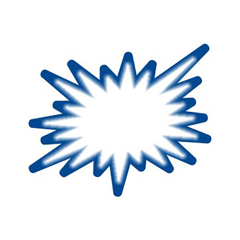 Cenu zīmes CENTA ZVAIGZNE balta/zila krāsa, 20 gab./iepakojumā