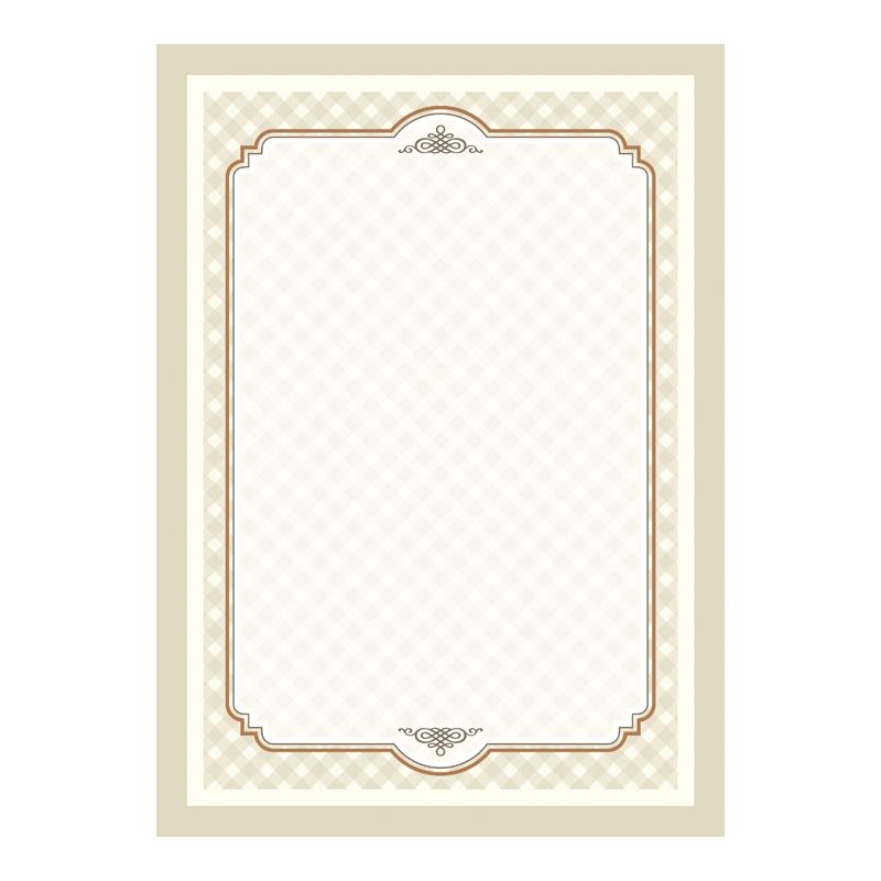 Dizaina papīrs DYPLOMY RETRO A4, 25 loksnes iepakojumā, 170 g/m2