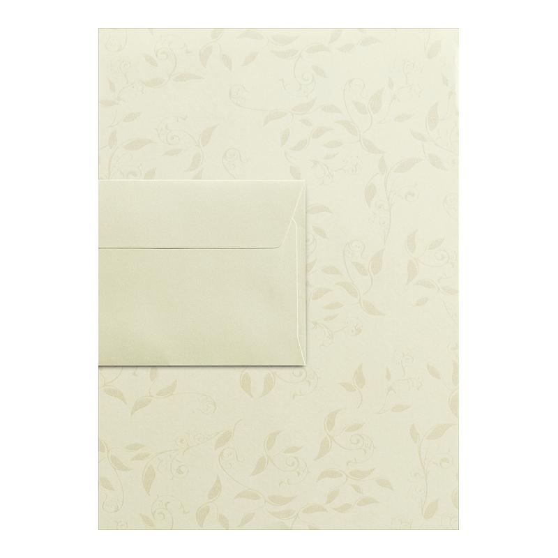 Dekoratīvā papīra komplekts A4 LIANA papīrs 20 loksnes, DL MILLENIUM 10 aploksnes