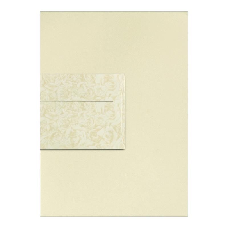 Dekoratīvā papīra komplekts A4 MILLENIUM papīrs 20 loksnes, DL ROZE 10 aploksnes