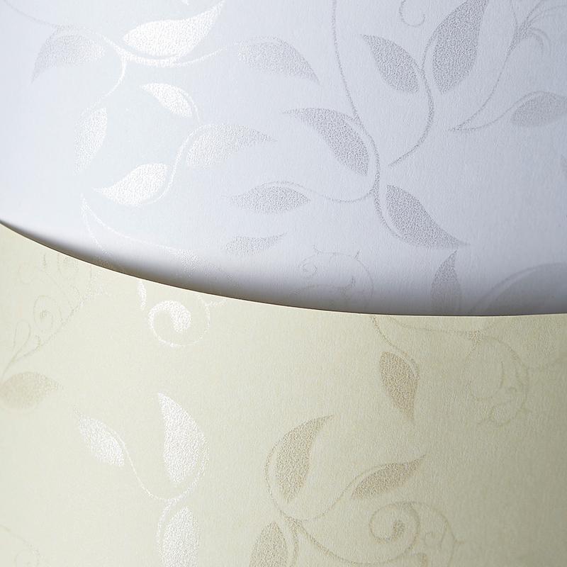 Tekstūras dizaina papīrs LIANA, lapu motīvs, baltā krāsā, A4, 50 loksnes, 100 g/m²