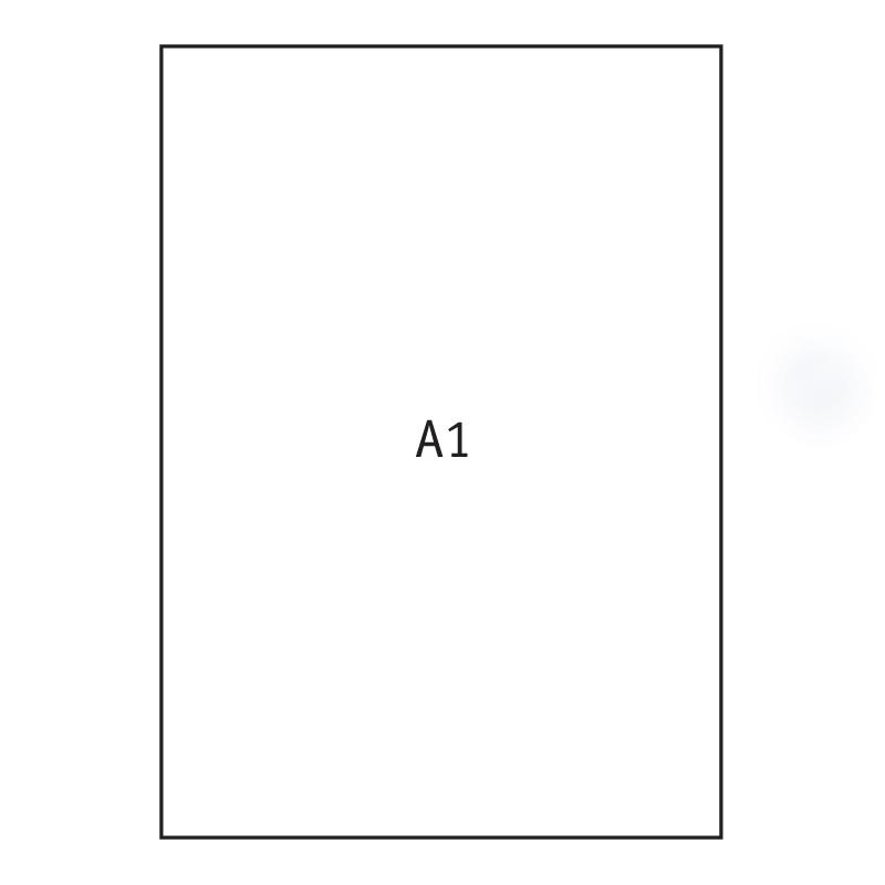 Papīrs rasēšanai Kreska A1 formāts, ar izmēru 605x860 mm, 170 g/m2, 20 gab./iepak.