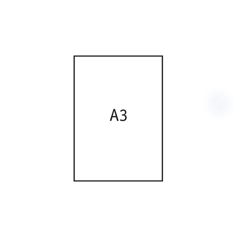 Papīrs rasēšanai Kreska A3 formāts, ar izmēru 297x420 mm, 170 g/m2, 20 gab./iepak.