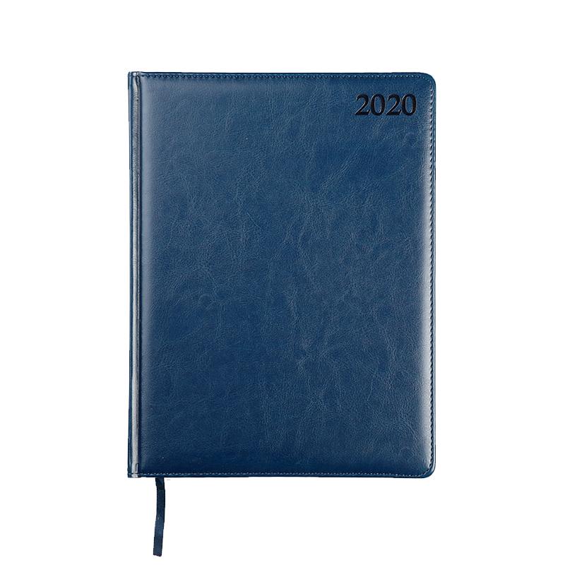 Dienasgrāmata MANAGER PREMIER 2020, PU, A4, zila k..