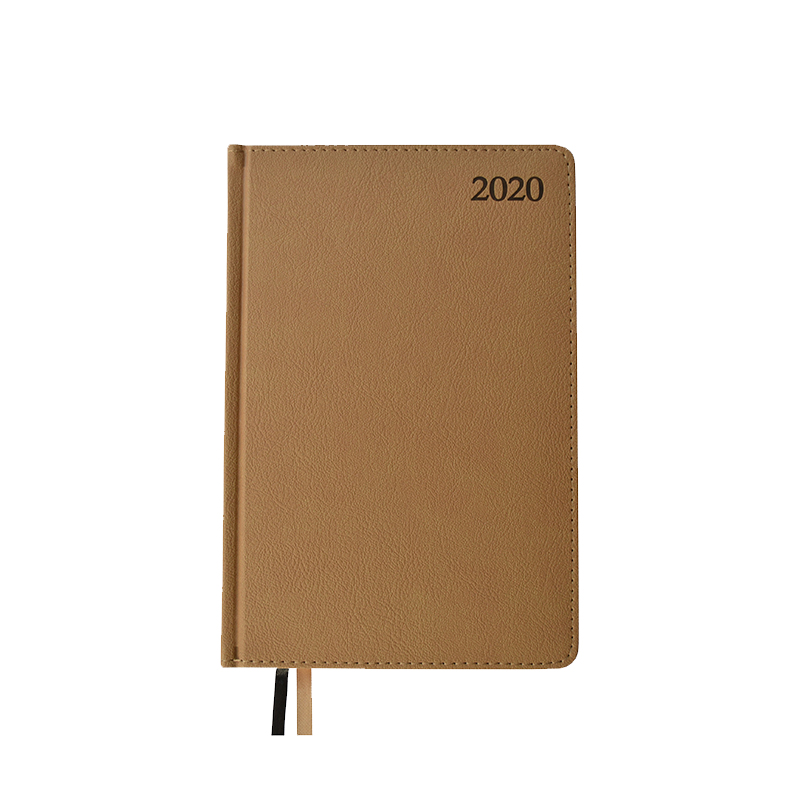 Dienasgrāmata MANAGER TEXTURE 2020, PU, A5, smilšu..