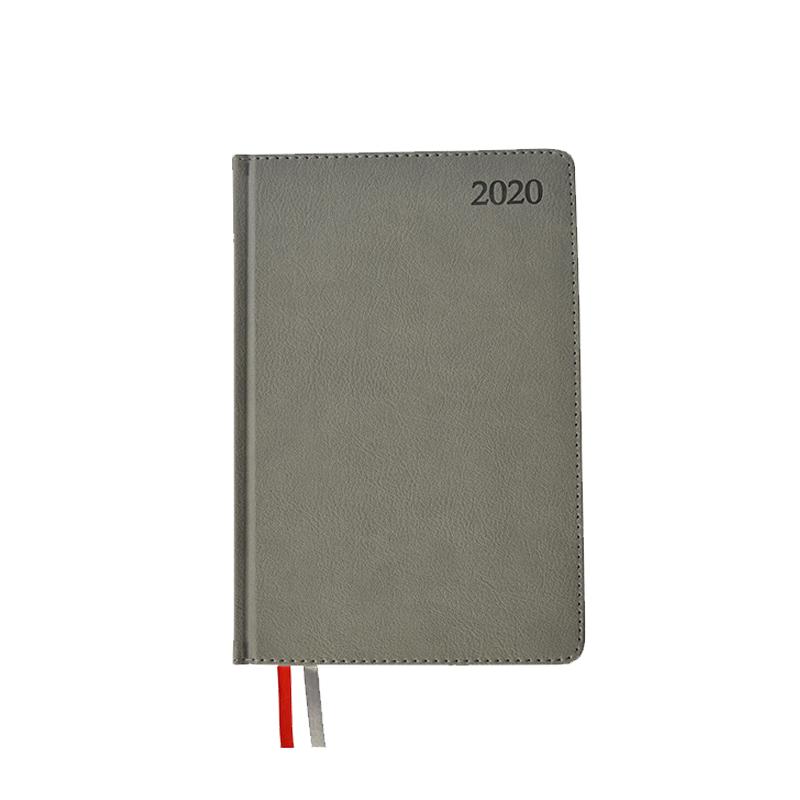 Dienasgrāmata MANAGER TEXTURE 2020, PU, A5, pelēkā..