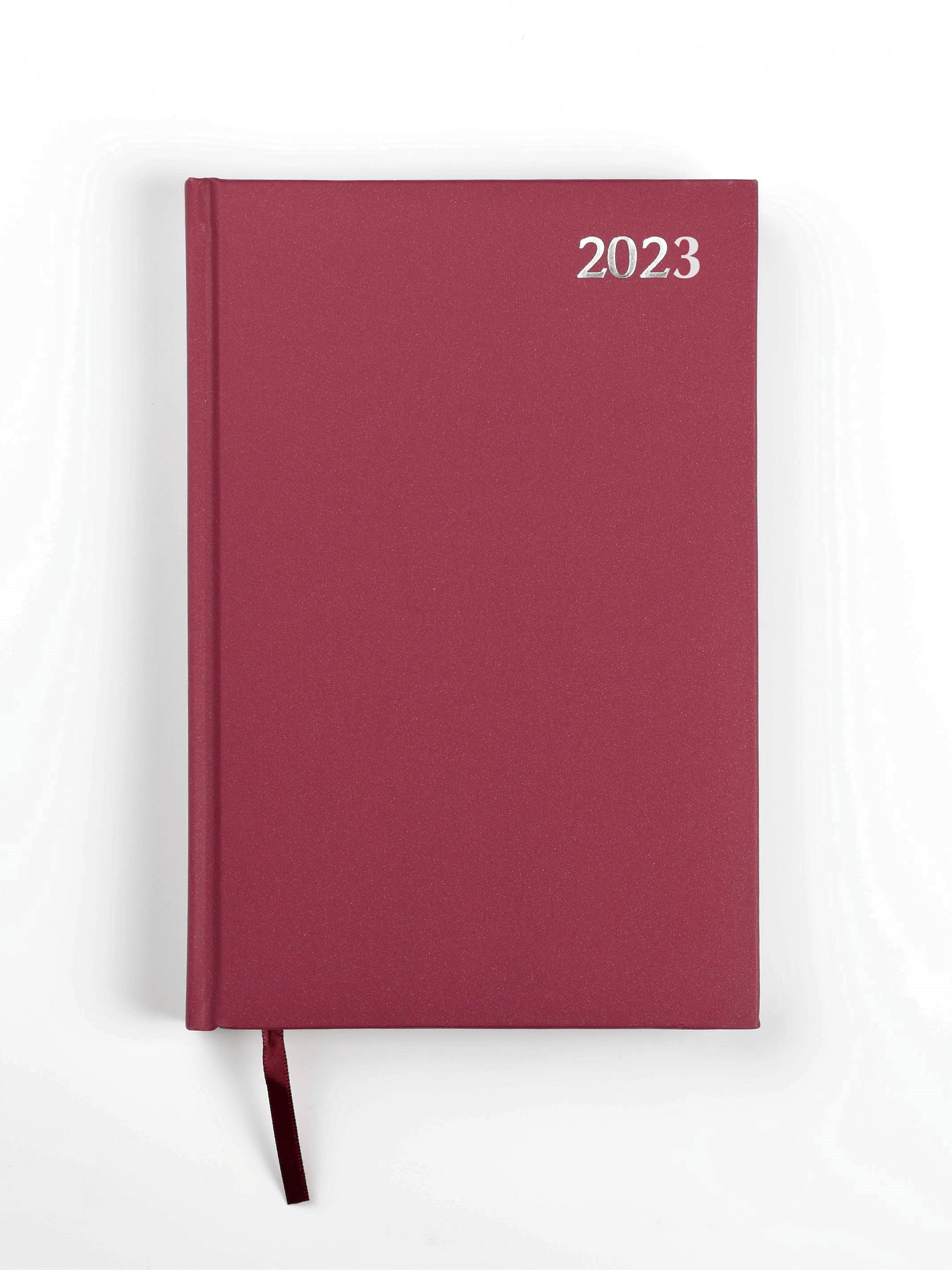 Dienasgrāmata STANDARD 2020, PVC, A5, bordo krāsa (Latviešu valodā)