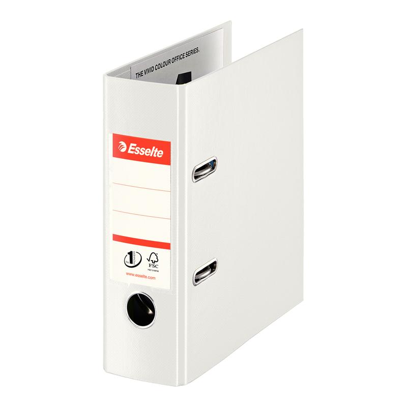 Mape-reģistrs ESSELTE VIVIDA No1 Power PP, A5 formāts, 75mm, balta