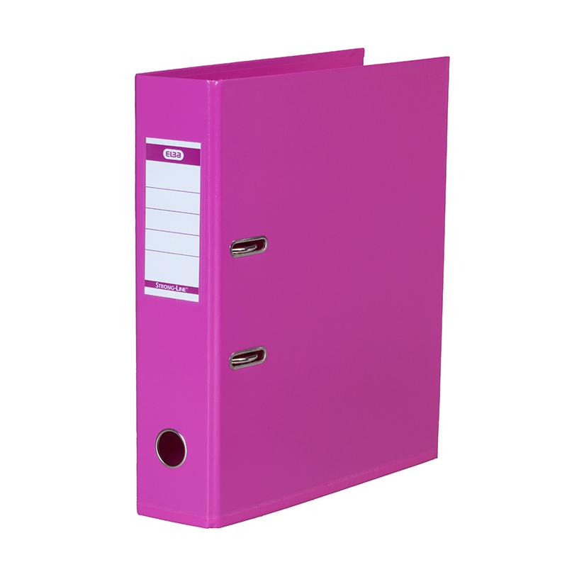 Mape-reģistrs ELBA Strong-Line, A4 formāts, 80mm, rozā