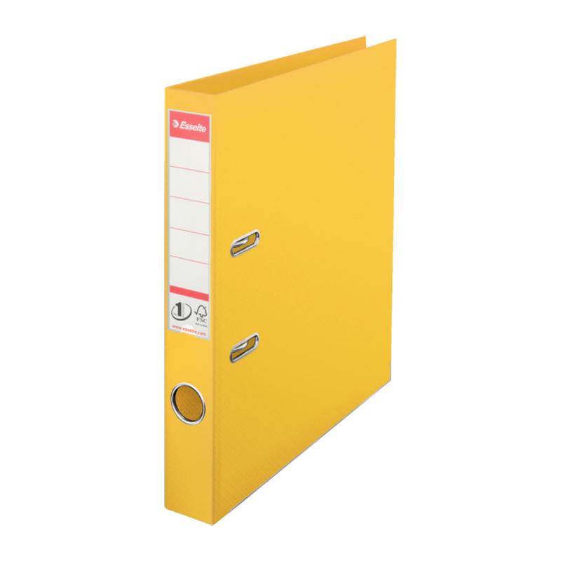 Mape-reģistrs ESSELTE No1 Power PP A4 formāts, 50mm, dzeltena
