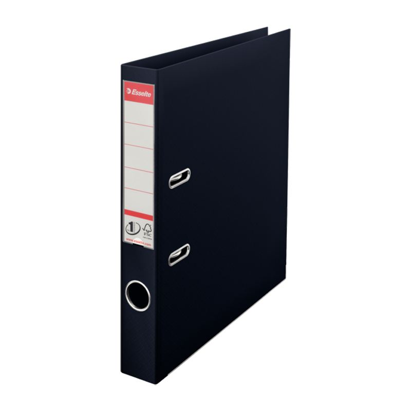 Mape-reģistrs ESSELTE VIVIDA No1 Power PP A4 formāts, 50mm, melna