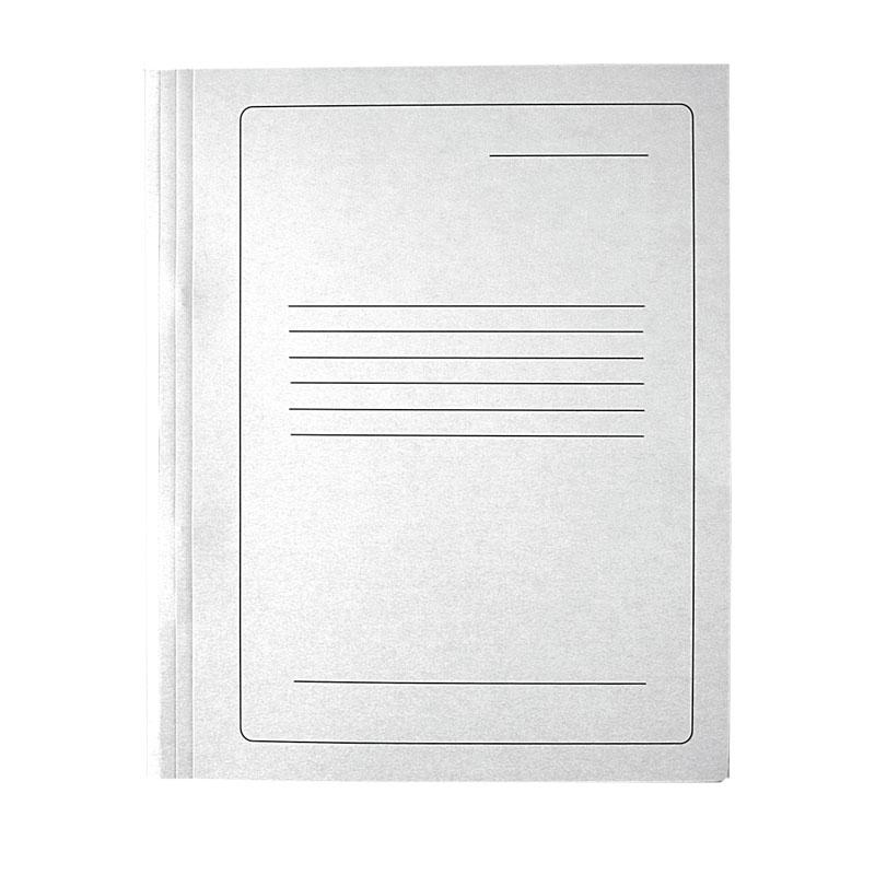 Mape ātršuvējs SMLT, kartona, 250 g, baltā krāsa