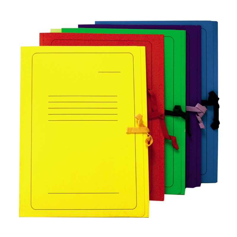 Mape ar saitītēm Smiltainis kartona, A4 formāts, sarkana