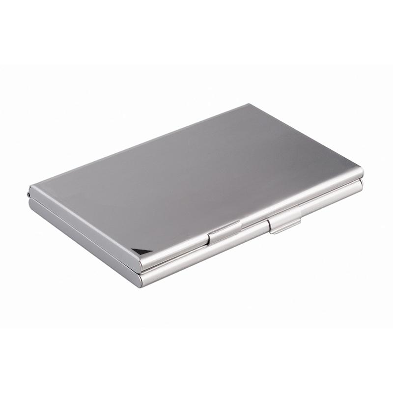 Vizītkaršu kastīte DURABLE, 90x55 mm, metāliski sudrabaina krāsa