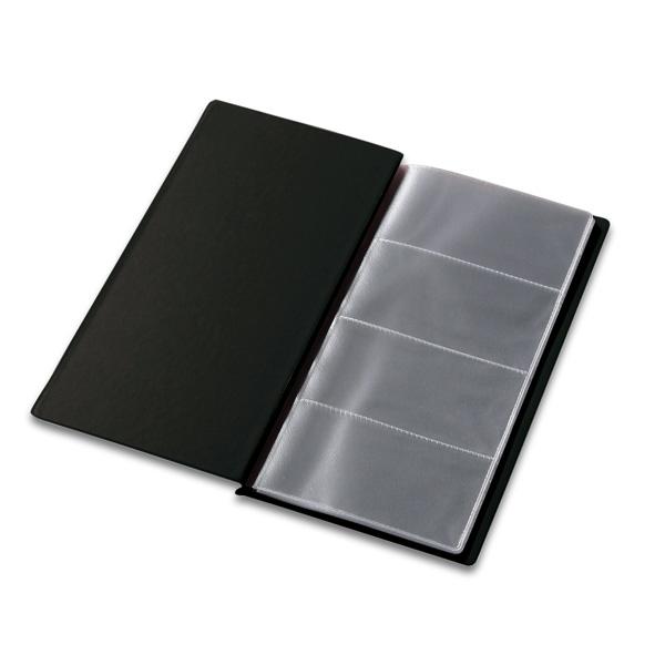 Vizītkaršu bloknots Pantaplast, 96 vizītkartēm, melns    24.5 cm x 12 cm