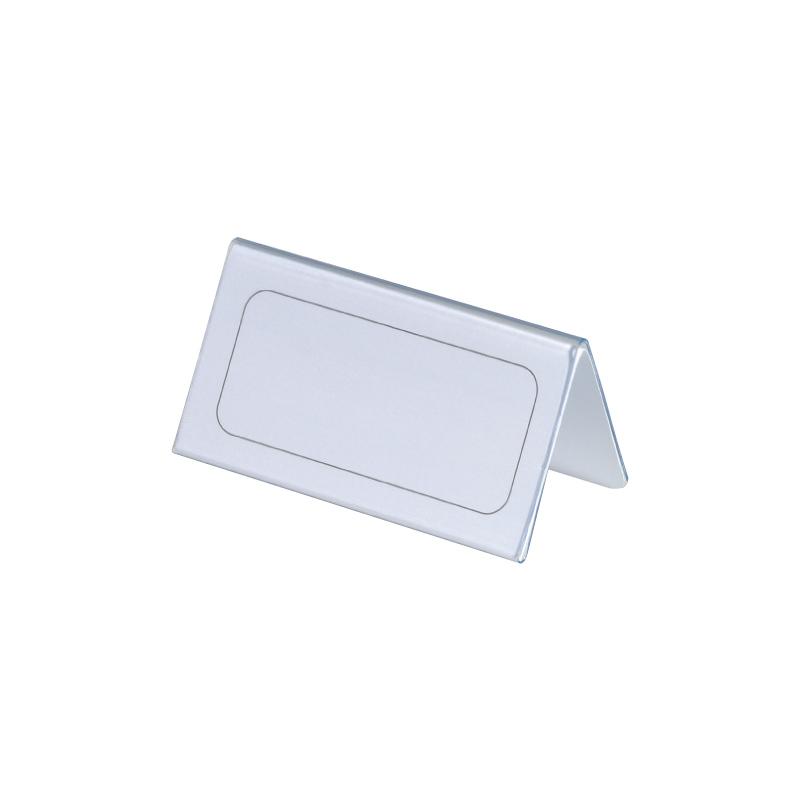 Galda personas karte Durable caurspīdīga, 52/104x100 mm